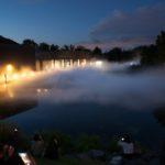 中谷芙二子氏の霧の彫刻「FOGSCAPE#47412」札幌国際芸術祭2014 芸術の森美術館にて