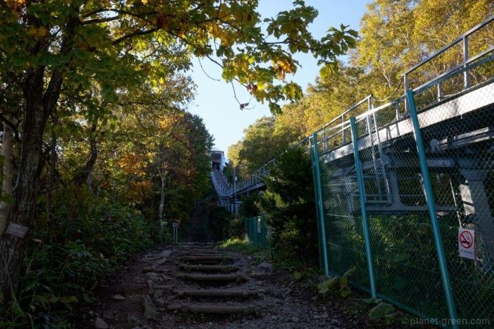 札幌市 藻岩山 もーりすカーの線路