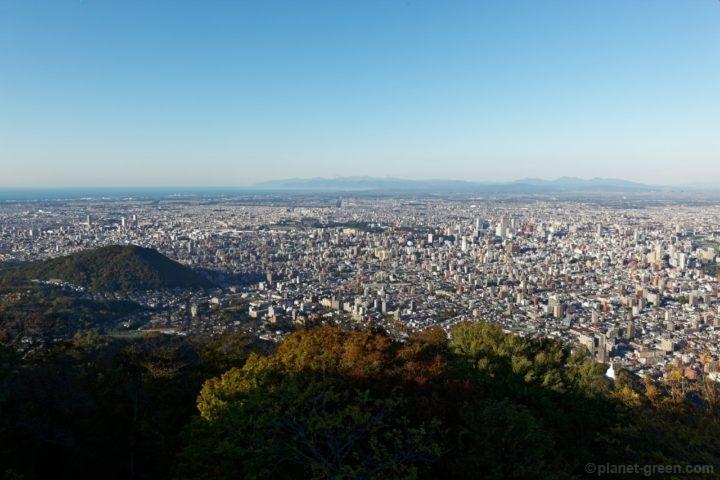 札幌市 藻岩山 展望台からの眺望