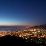 小樽市の夜景。旭展望台にて。
