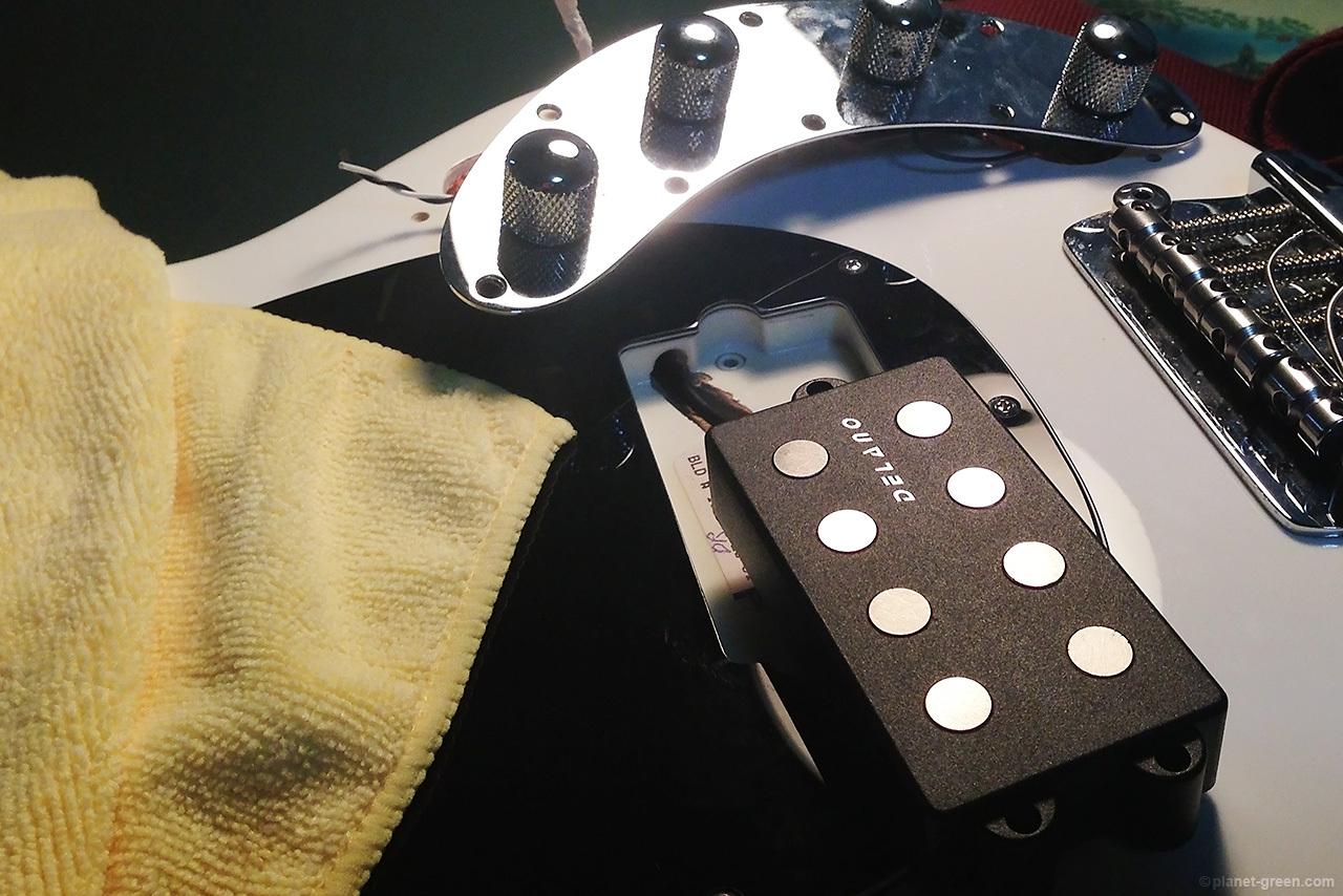 MusicmanスティングレイのピックアップをDELANO MC 4 ALに交換