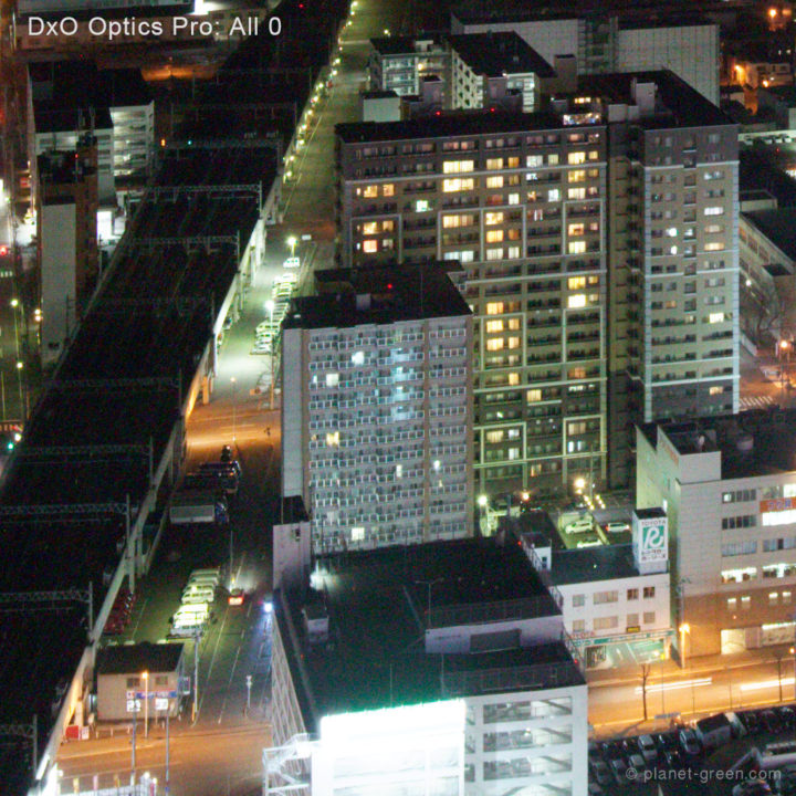 ノイズ除去比較 | 初期状態 | DxO OpticsPro 11 | 拡大