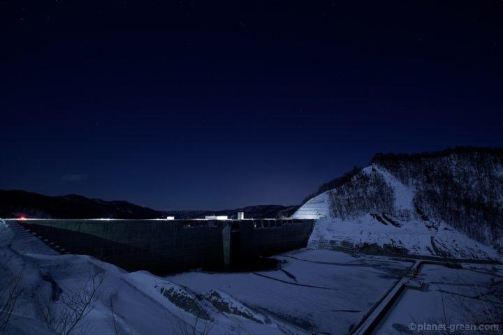 夜の夕張シューパロダム