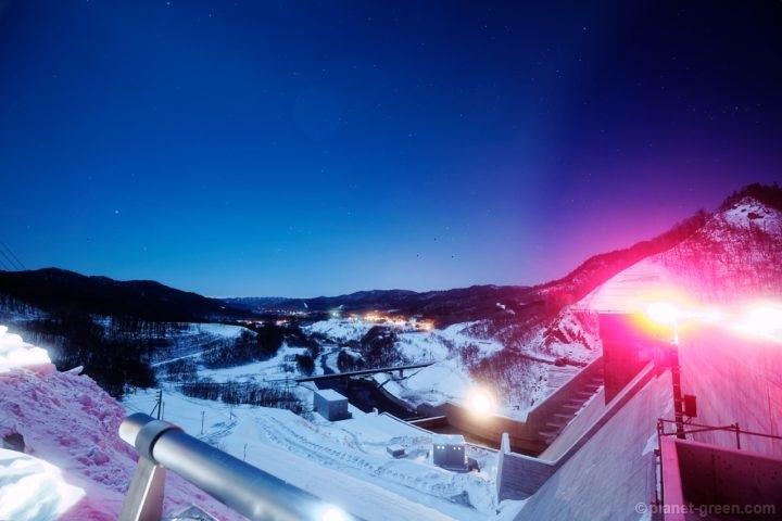 夜の夕張シューパロダムからの眺め