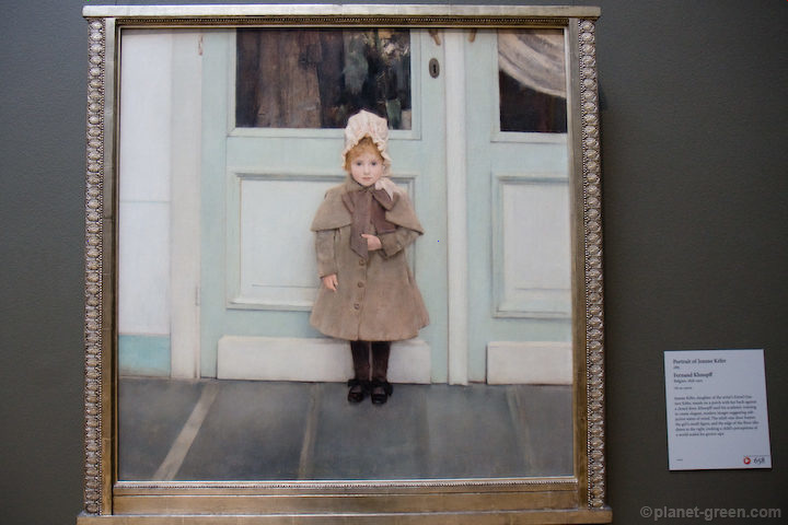 Jeanne Kéfer / Fernand Khnopff フェルナン・クノップフ《ジャンヌ・ケフェルの肖像》1885