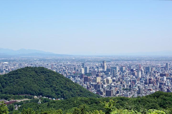 幌見峠から眺める札幌市街