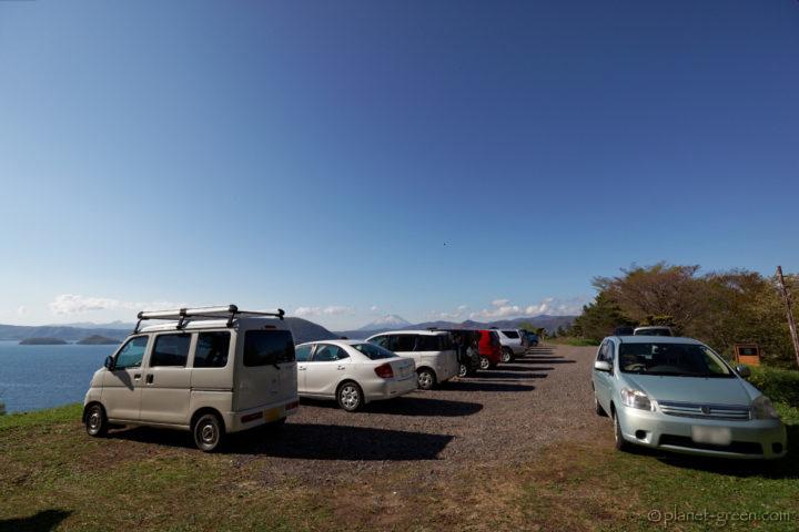 洞爺湖・壮瞥公園の駐車場