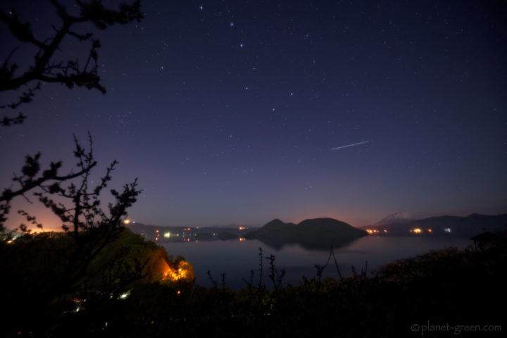洞爺湖と星空