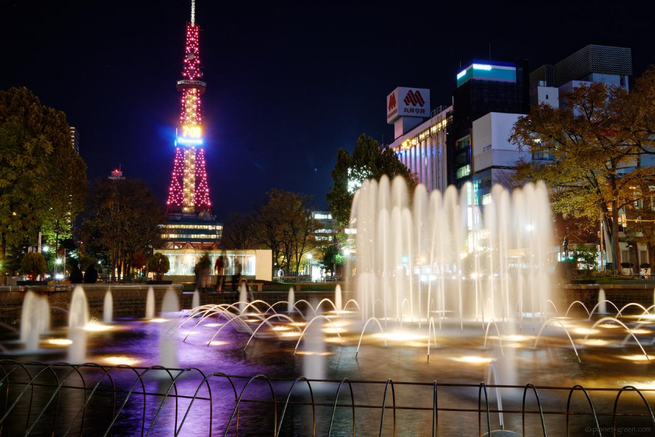 札幌市・大通公園の噴水