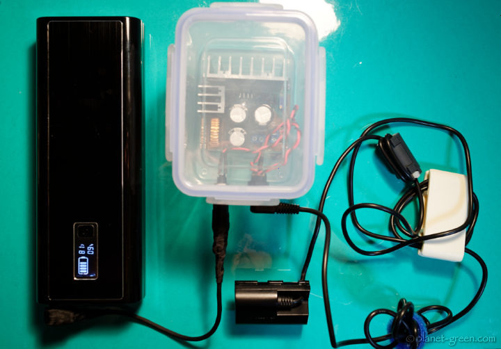 自作のCANON EOS 5Dシリーズ用外部電源セット