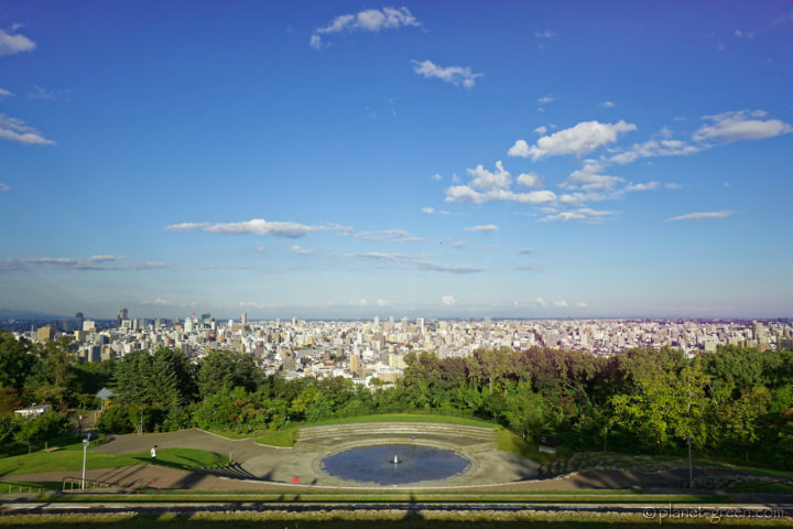 札幌市・旭山記念公園からの眺望
