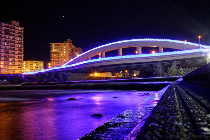 札幌川見2018 / 幌見橋のライトアップ