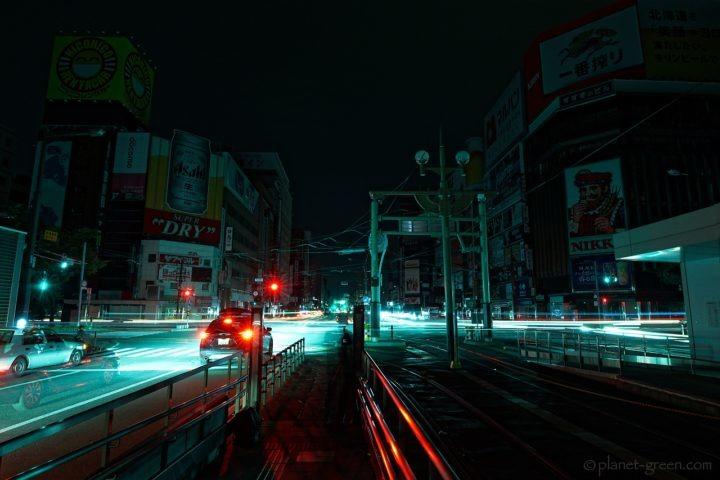 北海道地震に伴う大停電の夜/すすきのニッカの看板