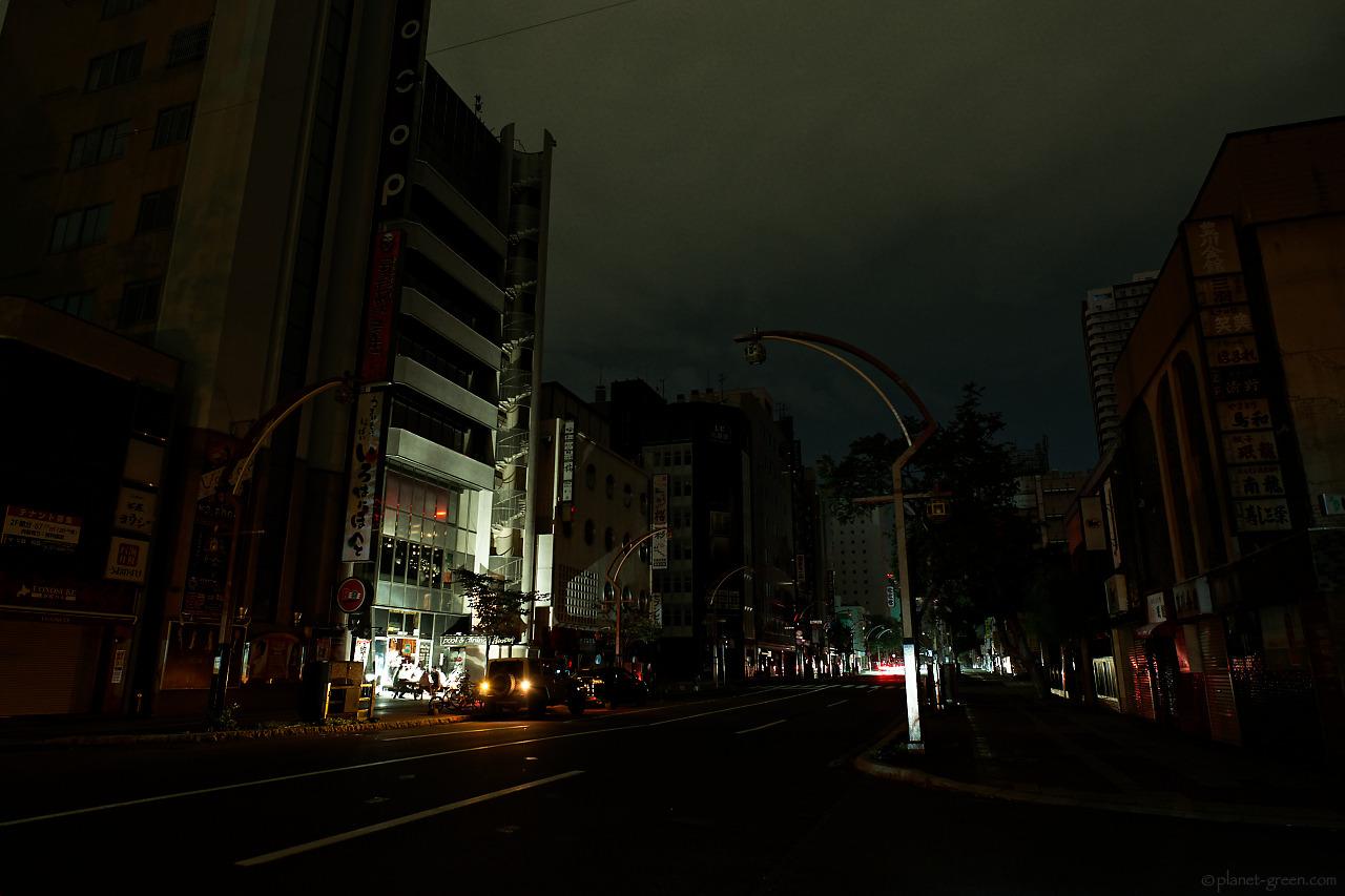 北海道地震に伴う大停電の夜/すすきの