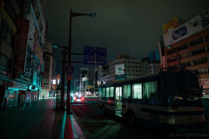 北海道地震に伴う大停電の夜/すすきの交番前