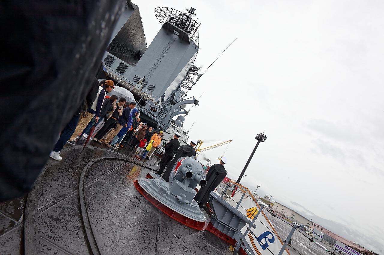 ロシア海軍ミサイル巡洋艦ヴァリャーグ(Варяг)の2018年函館港訪問