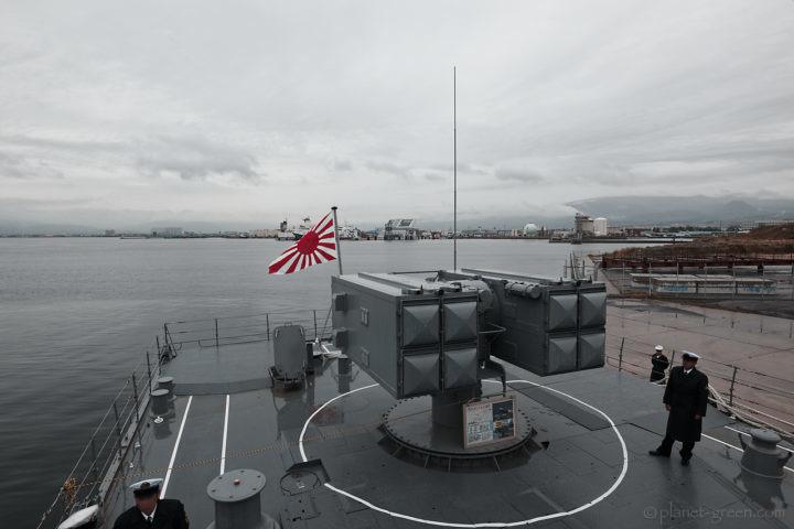「護衛艦はまぎり」のシースパロー短SAM8連装発射機