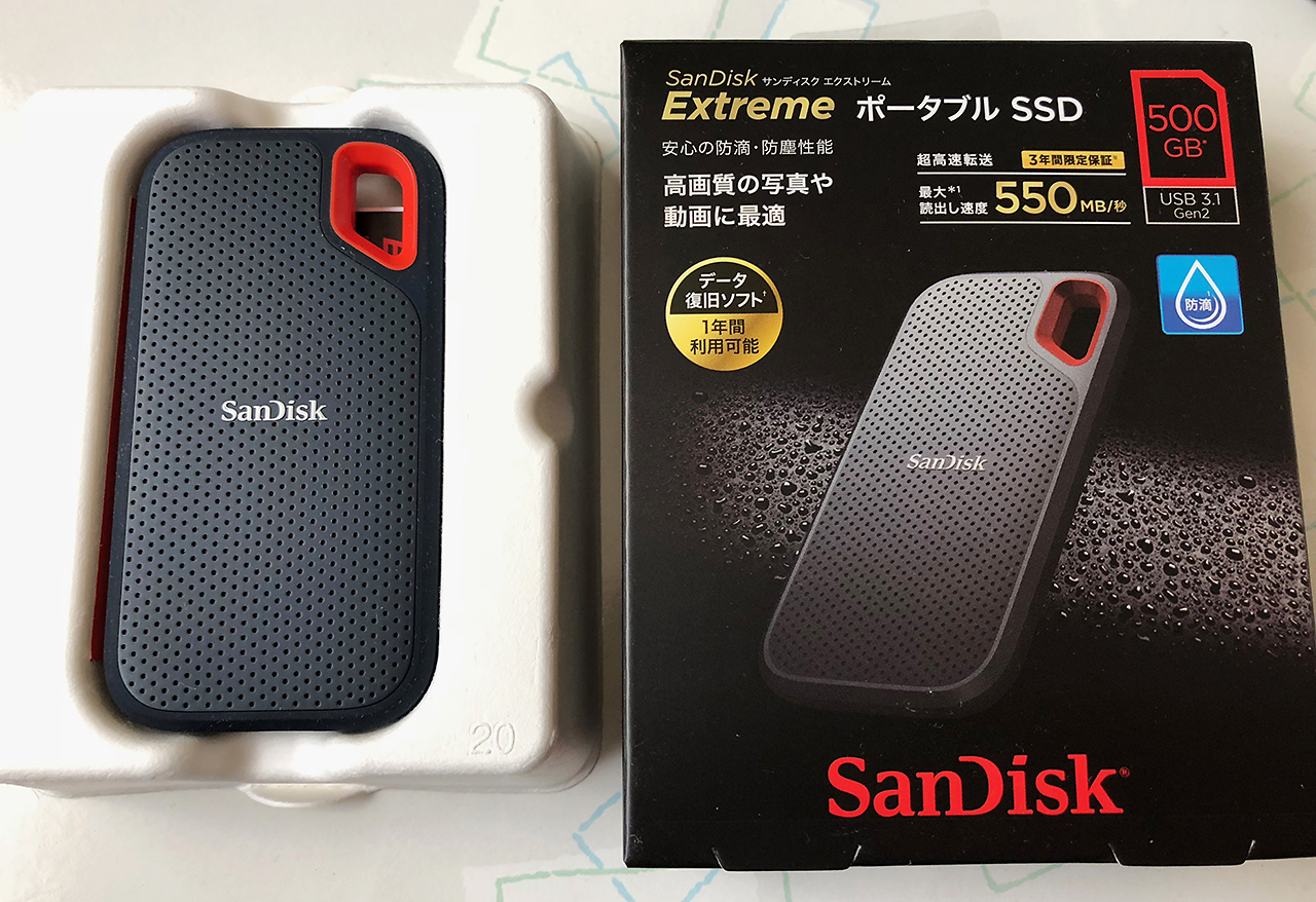 SanDisk Extreme ポータブルSSD 500GB